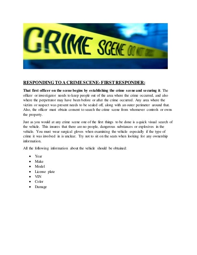 crime scene investigations by first responders