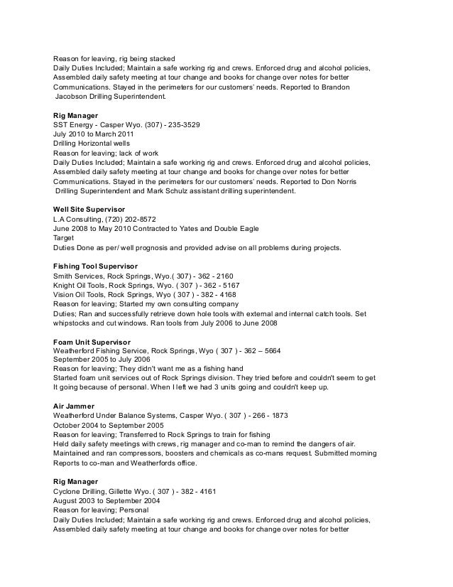 Resume help reason for leaving