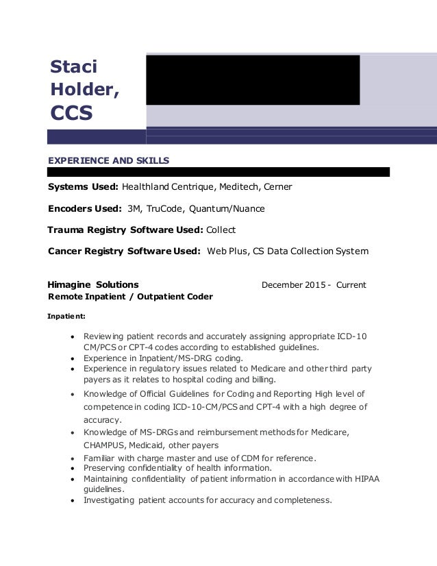 Resume and meditech