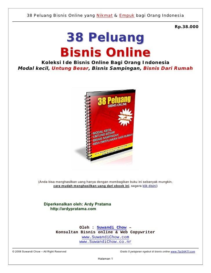 38 Peluang Bisnis Online yang Nikmat & Empuk bagi Orang Indonesia                                                         ...