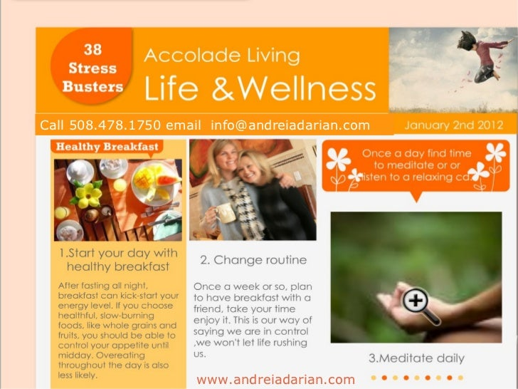 Take on 2012  with these Stress Busters