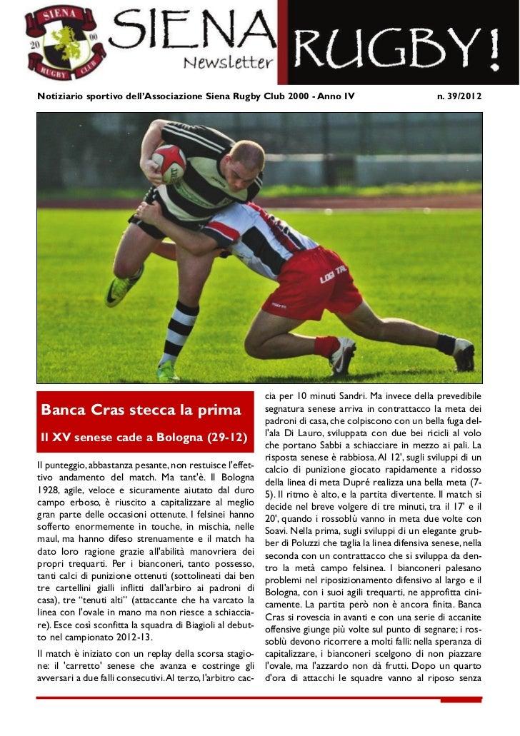 Newsletter 39 2012
