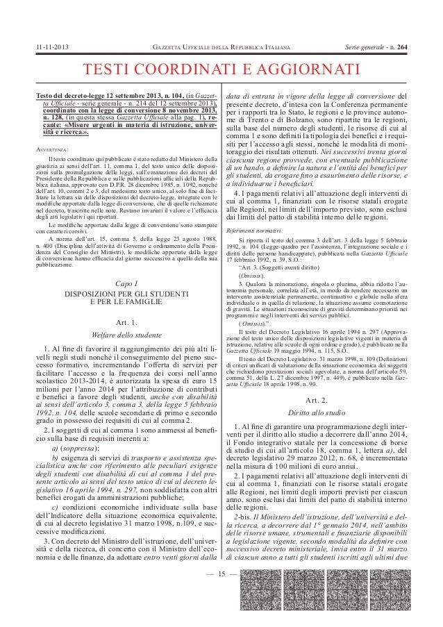 392   legge n.128 dl 104 scuola