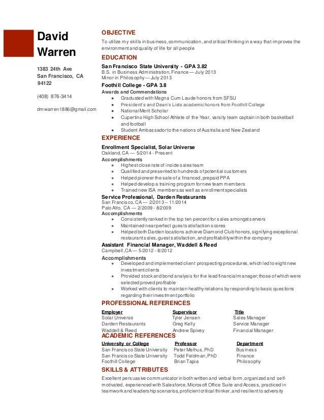 david warren s resume solar updated