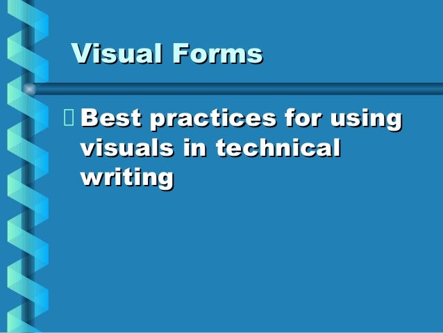 Special Stylistic Issues in Technical Writing