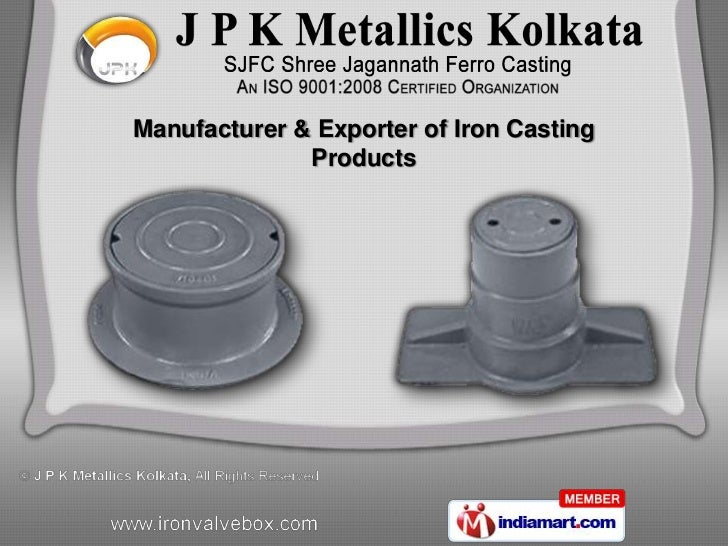 Manufacturer & Exporter of Iron Casting              Products