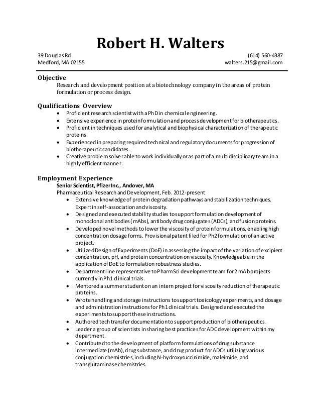resume robert walters spring 2015 2