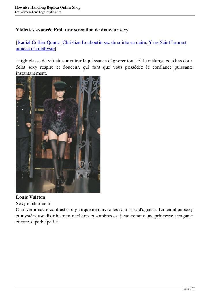 Hownice Handbag Replica Online Shophttp://www.handbags-replica.netViolettes avancée Emit une sensation de douceur sexy[Rad...