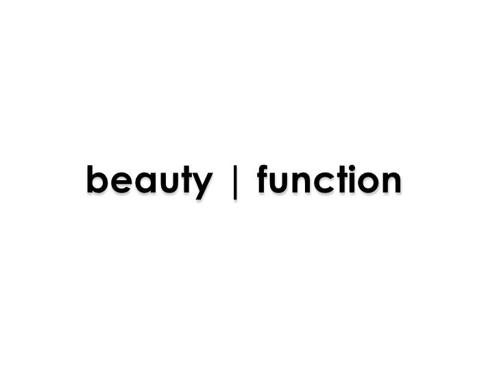 beauty | function<br />
