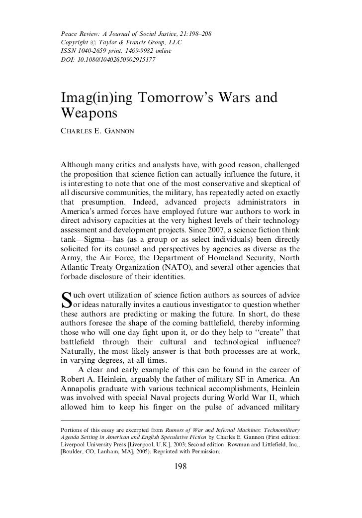 Imag(in)ing Tomorrow's Wars and Weapons