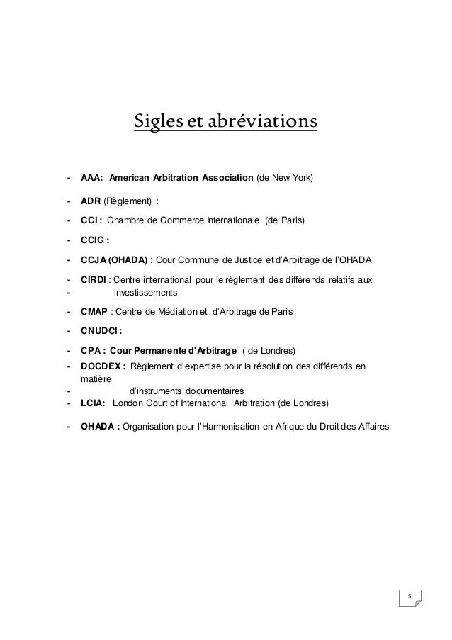 Memoire dess for Chambre de commerce internationale arbitrage