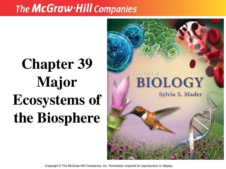 Copyright  ©  The McGraw-Hill Companies, Inc. Permission required for reproduction or display. Chapter 39 Major Ecosystems...