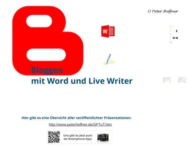 SharePoint Lektion #39: Bloggen mit MS Word und Windows Live Writer