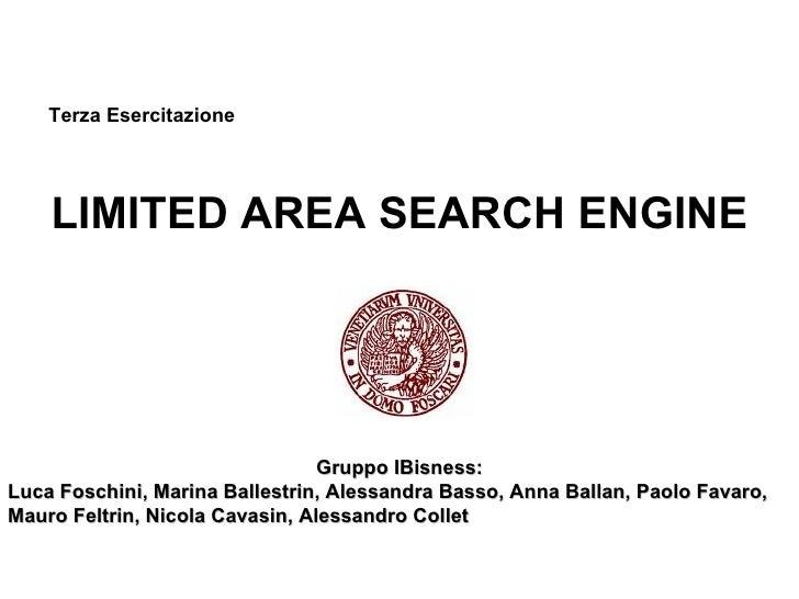3a esercitazione: motori tematici (A/K) - Gruppo Ibisnes