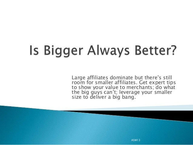 Large affiliates dominate but there's stillroom for smaller affiliates. Get expert tipsto show your value to merchants; do...