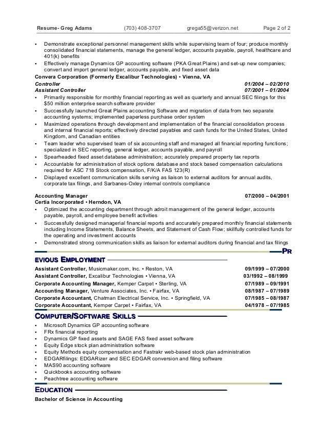 ssrs sample resume
