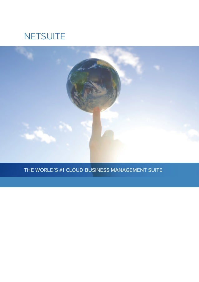 Netsuite business management suite brochure for Netsuite document management