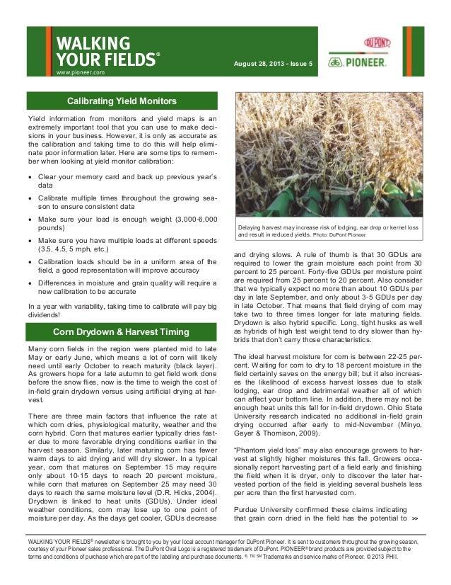 Wisconsin Walking Your Fields newsletter-August