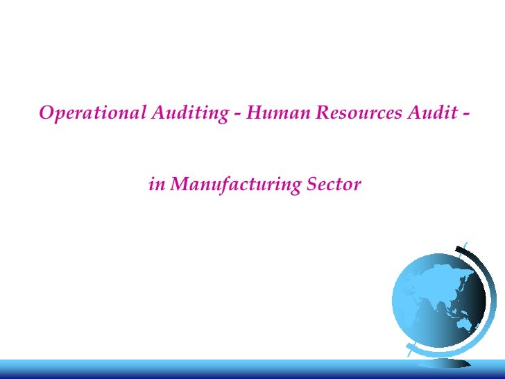 Operational Auditing - Human Resources Audit - in Manufacturing Sector
