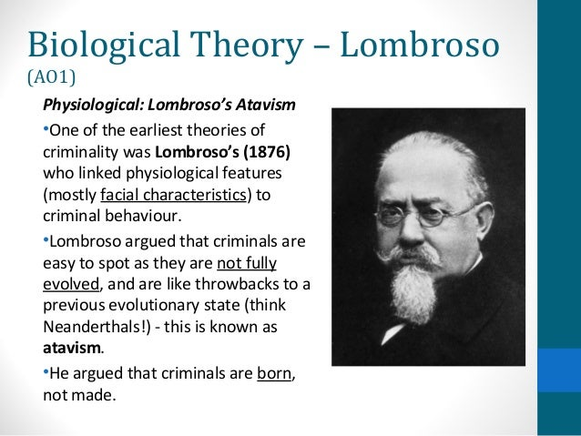 lombroso s contribution to criminology The italian school of criminology was founded at the end of the 19th century by cesare lombroso lombroso's conception of the atavistic born criminal.