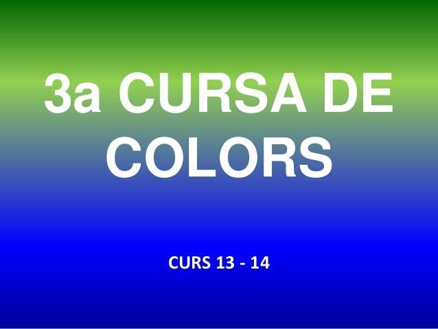 3a CURSA DE COLORS CURS 13 - 14