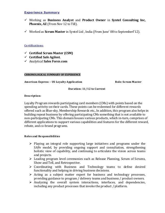 scrum master resume sle 28 images cv rich house scrum
