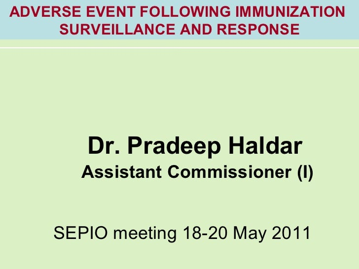 AEFI    p haldar presentation for sepio meet