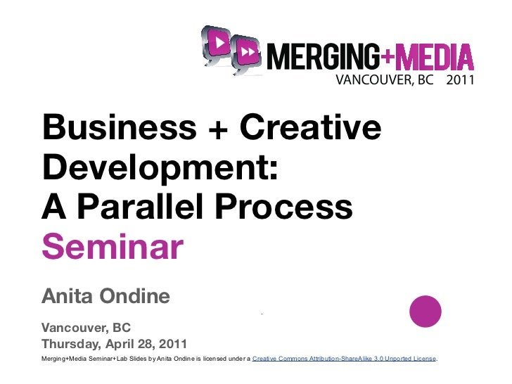 !Business + CreativeDevelopment:A Parallel ProcessSeminarAnita Ondine                                                     ...