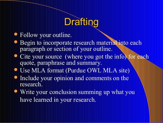 taking notes in preparing for a research paper There are ten steps involved in writing a research paper: step 1: select a  step  5: prepare a working outline step 6: start taking notes step 7: outline the.