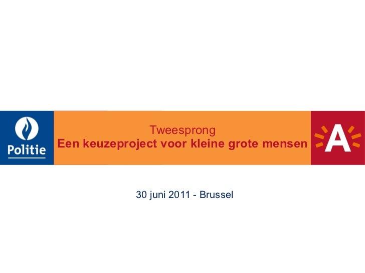 Tweesprong   Een keuzeproject voor kleine grote mensen 30 juni 2011 - Brussel