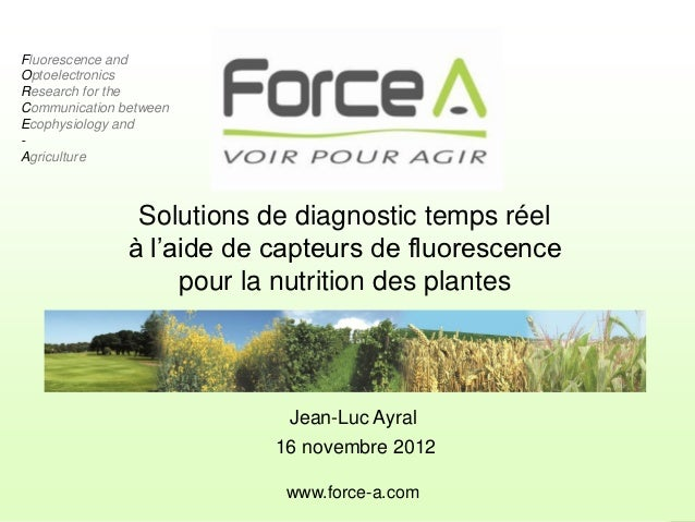 Fluorescence andOptoelectronicsResearch for theCommunication betweenEcophysiology and-Agriculture                     Solu...