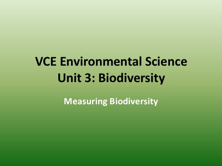 3B.2 Measuring Biodiversity