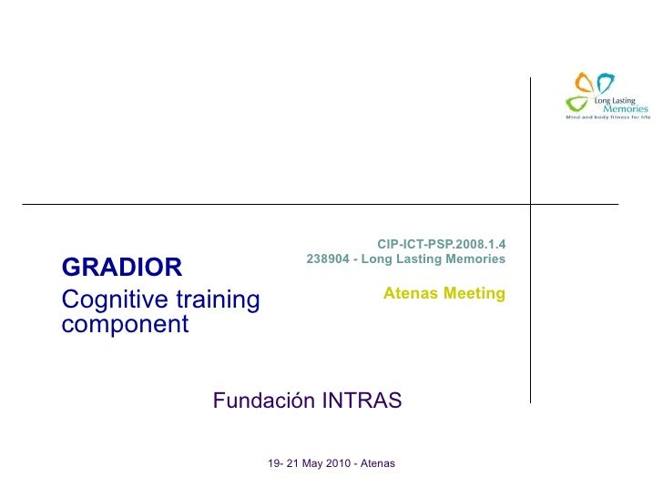 Cognitive Training Component (Gradior software)