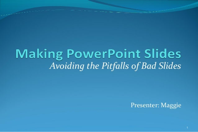 Bad Slides Presenter