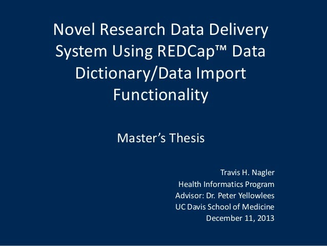 Data Dictionary Field - Thesis title