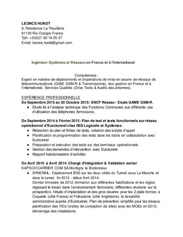 LEONCE HUNDT 9, Résidence La Theuillerie 91130 Ris Orangis France Tph: +33(0)7 82 16 25 37 Email: leonce.hundt@gmail.com I...