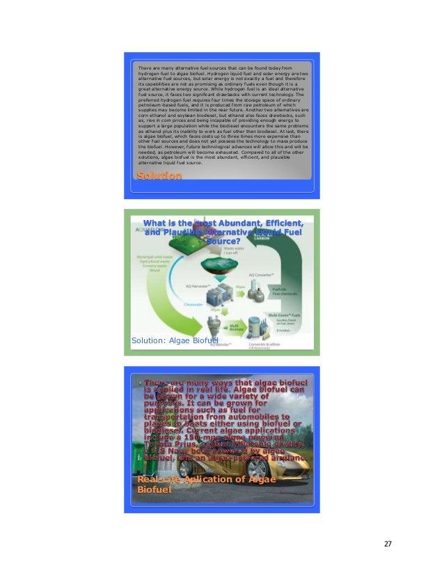 Alternative fuel research paper