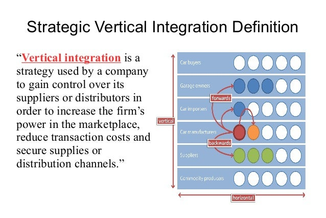 decisions to vertically integrate in the Before blockchains, there were only two basic ways to coordinate a supply chain: vertical integration, or regulation  could make decisions about the distribution of rents around the network.