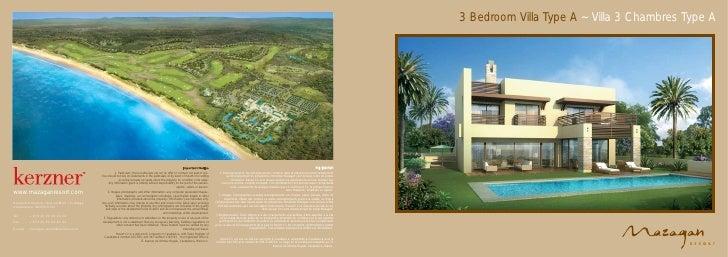 3 Bedroom Villa Type A ~ Villa 3 Chambres Type A - Mazagan Beach Resort, El Jadida, Casablanca, Morocco