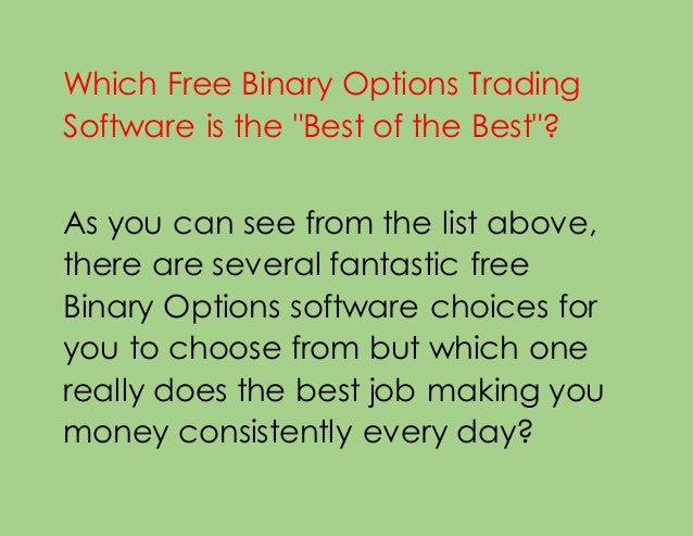 Binary options simulation software