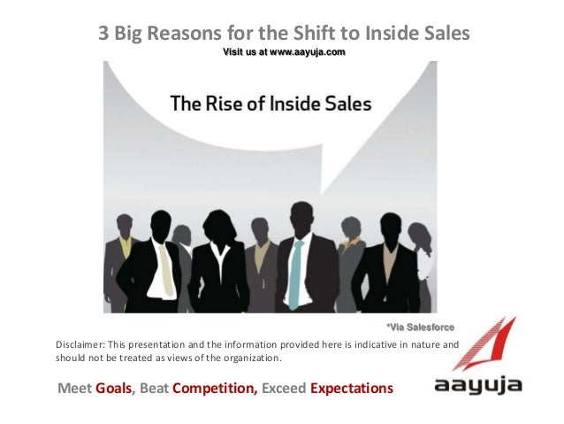 3 Big Reasons for the Shift to Inside Sales