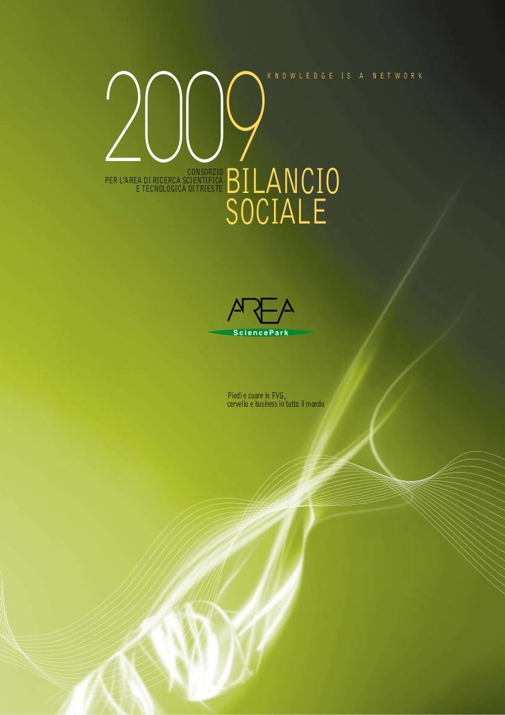 Bilancio Sociale 2009 AREA Science Park