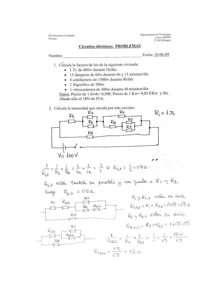 3ºbil Solución Problemas Electricidad