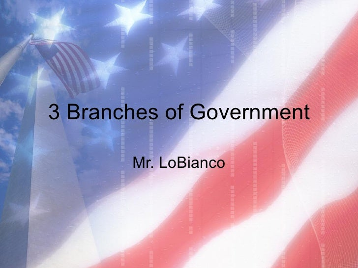 3 Branches of Government Mr. LoBianco