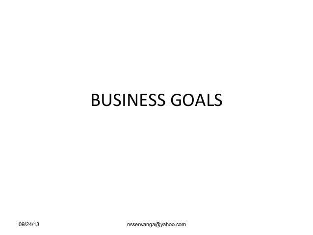 3 business goals