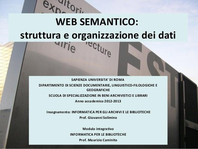 3b WEB SEMANTICO: struttura e organizzazione dei dati