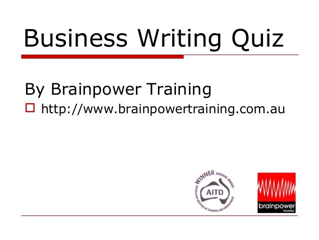 Business Writing Instant Quiz