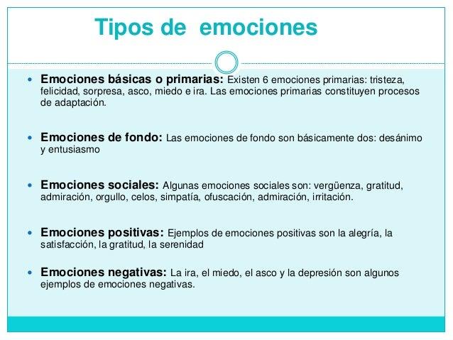 Tipos de Emociones Imagenes Tipos de Emociones