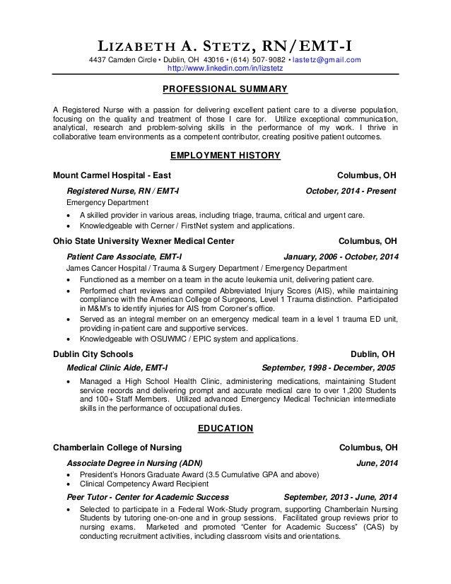 Rn Resume Resume Format Resume Writing For Registered Nurses