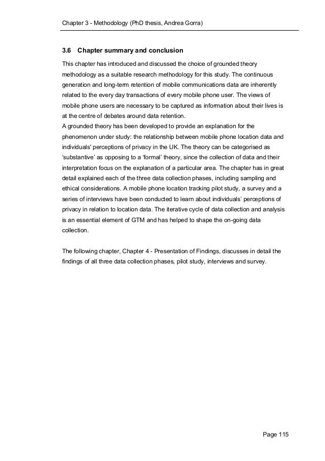 phd thesis conclusions chapter